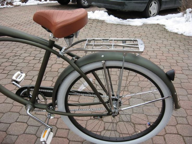 Custom Motored Bicycles - REAR RACKS, CARRIERS, LUGGAGE,MIRRORS,ACCESSORIES