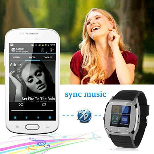 Wearable Smartwatch Bluetooth Smart Watch Touch Screen Wristwatch with Dial Call Answer Music Player for Men Women Android Samsung Note 5 S7 Edge S6 S5 HTC LG Motorola Alcatel ASUS ZTE Smartphones   -Luxury Bluetooth Smartwatch is suitable for Android phone,so we recommend that you should note your phone model before your purchase.-Answer