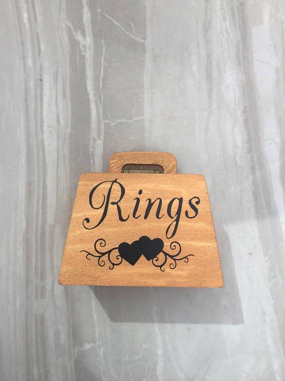 Wedding ring box ring bearer box ring box wedding rings