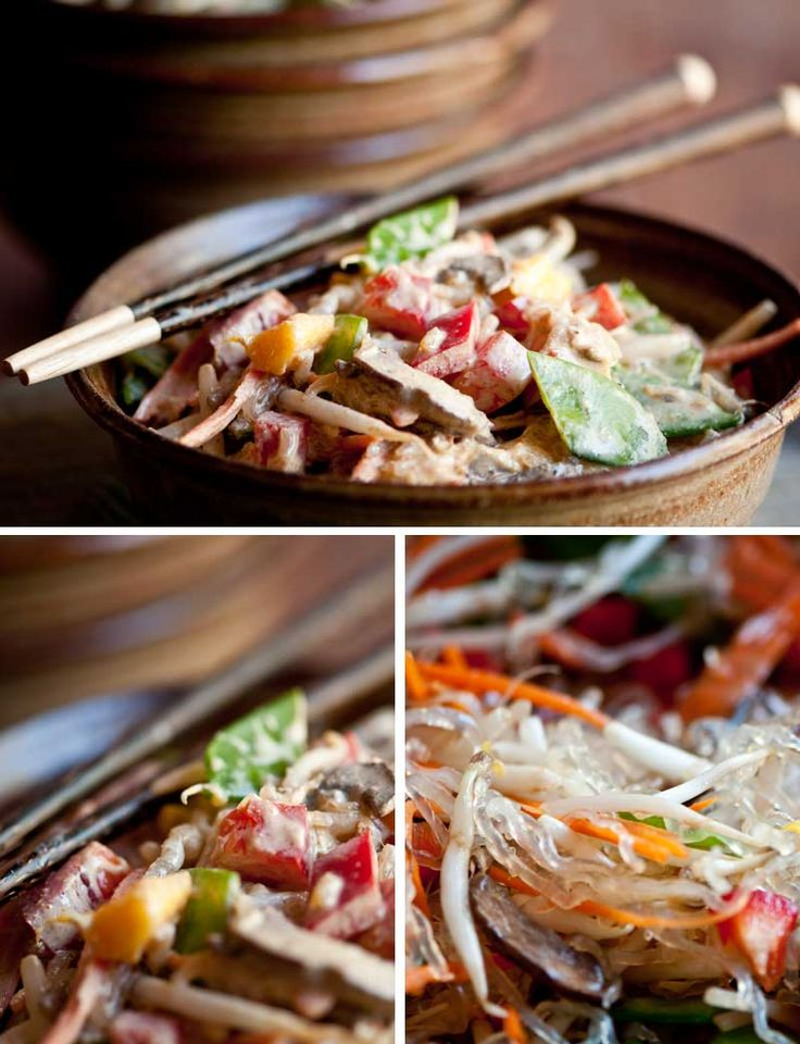 Thai Style Kelp Noodles and Veggies from Rawmazing.............this looks yummo!