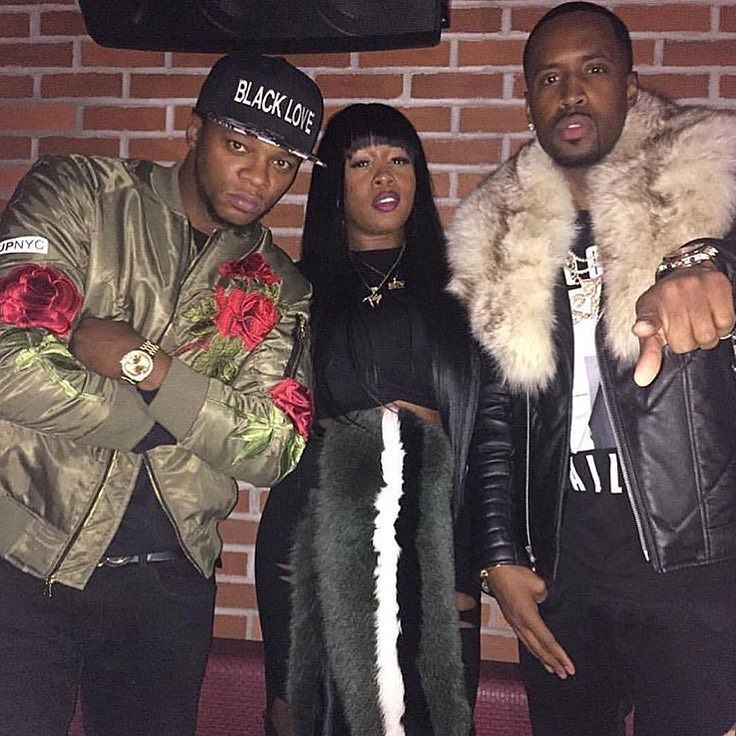 Rappers #RemyMa #Papoose & #Safaree at #DJSelf's LHHNY's viewing party last night in New York.  Check our SnapChat for more media on the event.