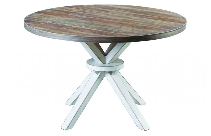 Baxter distressed round dining table furniture for Distressed round dining table