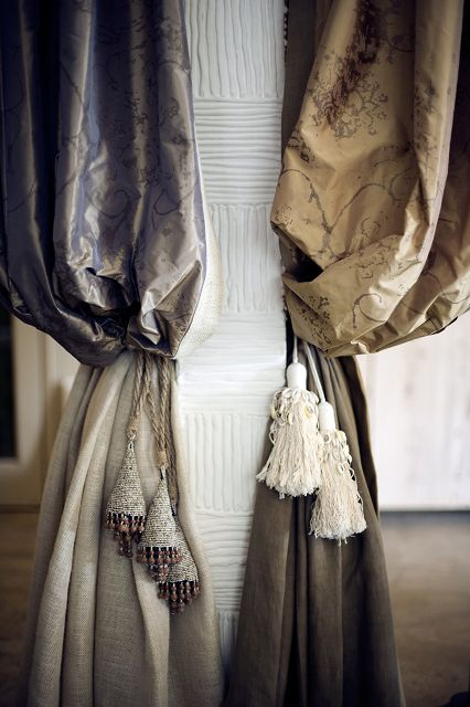 Draping and tassels #Window #details #trim