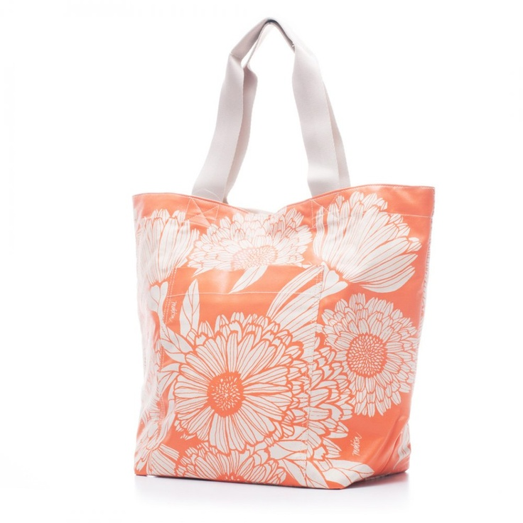 Bags & Totes: Beach Bag Orange Oriental $87