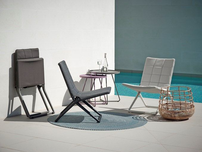 Traveller outdoor folding chair by Cane-line