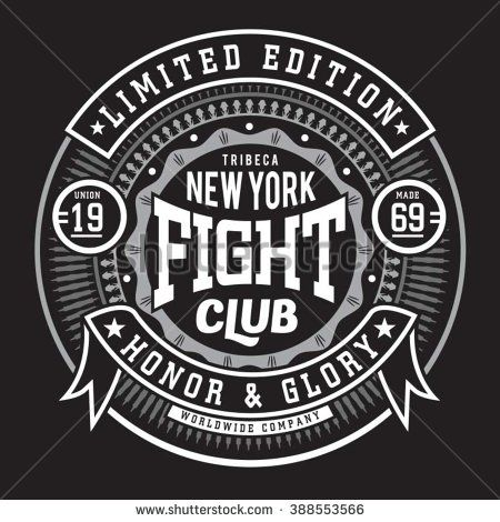 Fight boxing  sport typography, t-shirt graphics, vectors - stock vector