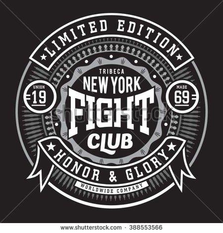 Fight boxing  sport typography, t-shirt graphics, vectors - stock vector