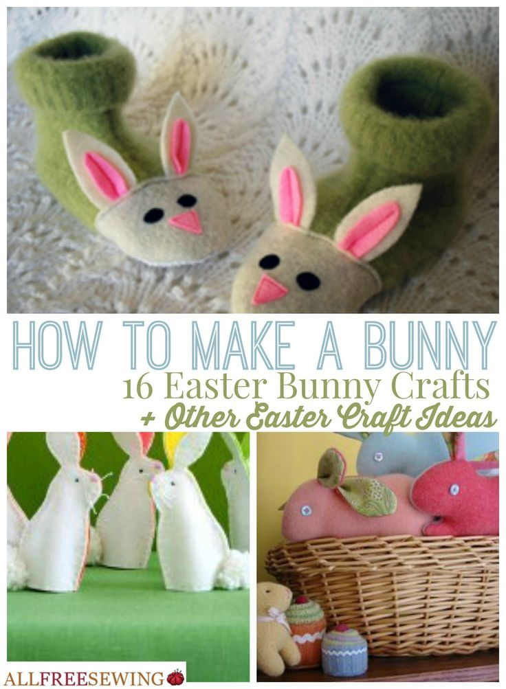 85 best easter sewing projects images on pinterest easter crafts how to make a bunny 16 easter bunny crafts other easter craft ideas negle Image collections