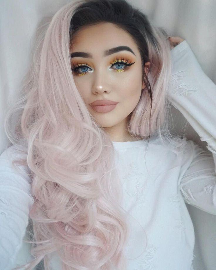 Pastel Pink Hair Long Hair Brown Hair Tintes