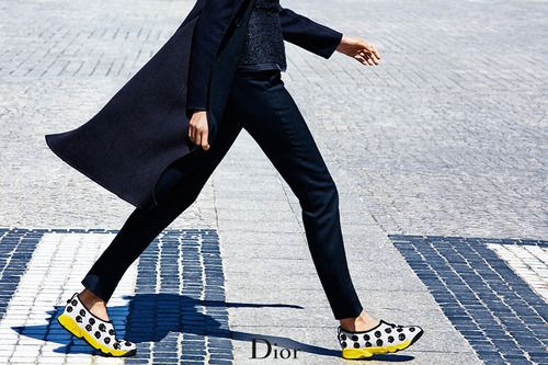 The Dior Fusion Sneakers out and about.