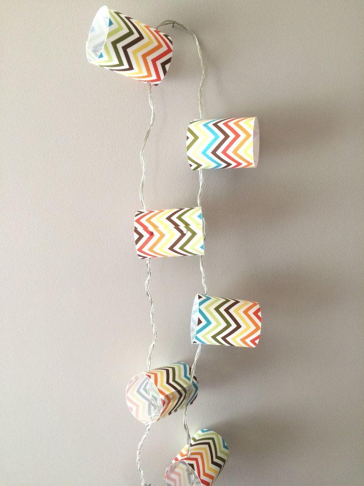 Guirlande Lumineuse Chevron Multicolor 10 ampoules 3,75 m : Luminaires par abat-jour-et-compagnie