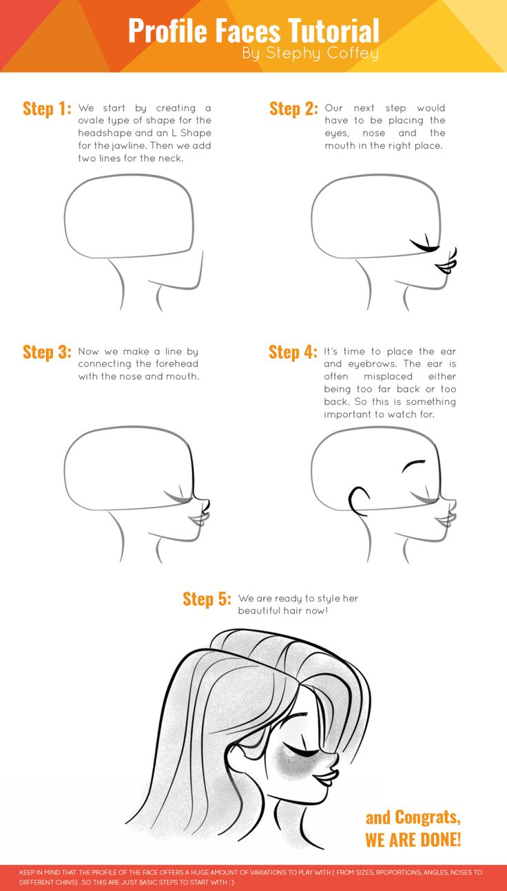 How To Draw Profile Faces ˜�  Character Design References™ (https: