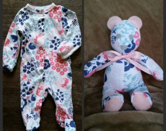 Baby sleeper teddy bear/memory bear mini 8 by sewstinkinfabulous