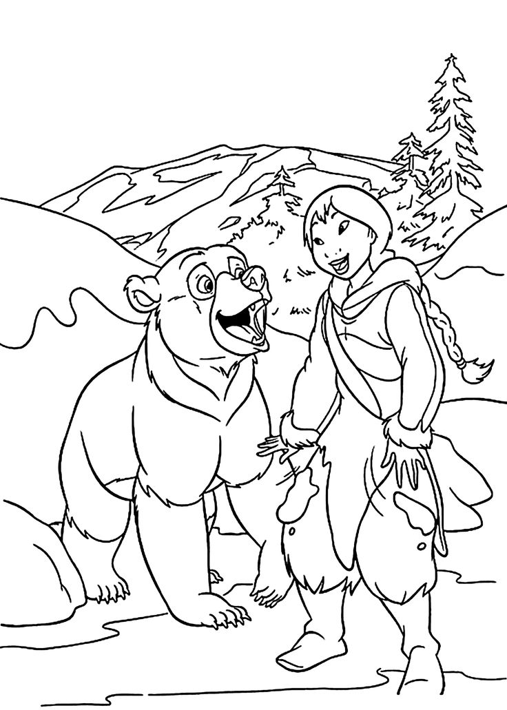 brother bear 2 coloring pages - photo#18