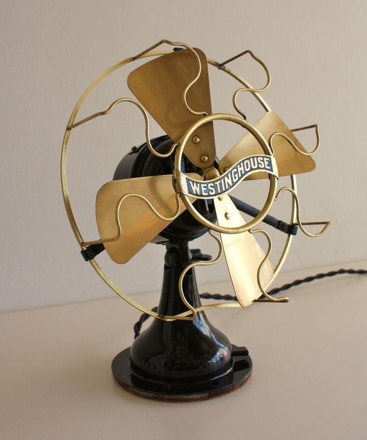 1910 Westinghouse Electric Brass Fan