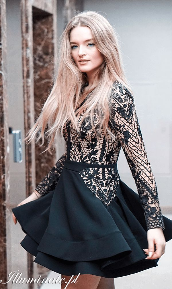 3f49e2704c INEZ czarna w 2019 Illuminate LOOKBOOK Sukienki na wesele