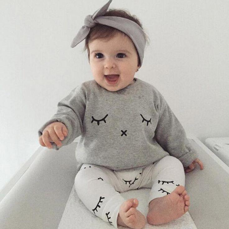 Aliexpress.com: Compre Bebê Menino Roupas 2017 Novas Crianças Roupas de Verão Define T Camisa + Terno de Calças Vestuário Set Cílios Impresso Recém nascidos Ternos do esporte de confiança roupas de bebê menino fornecedores em Busy_Bee Store