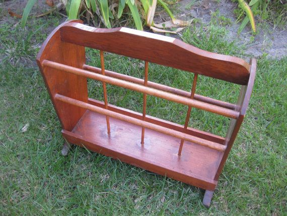 Pine Wood Magazine Rack With Spindle Style By MyLittleSomethings 2500