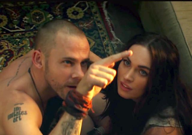 "Megan Fox and Dominic Monaghan in Eminem & Rihanna's ""Love the Way You Lie"""