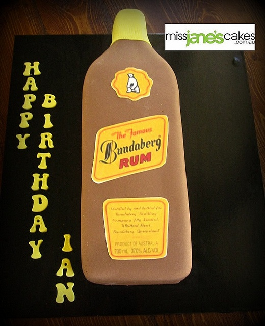 Bundaberg Rum Bottle, via Flickr.  www.missjanescakes.com.au