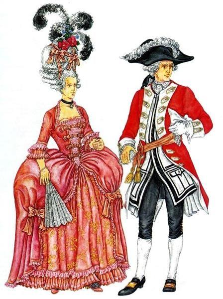 Европейский мужской костюм 18 век