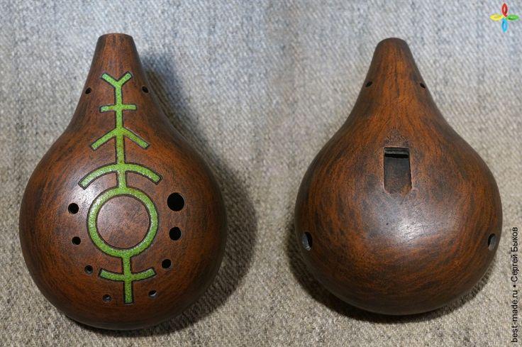"""керамическая окарина """"NøkkelI"""", керамика   Bestmade - изделия ручной работы"""