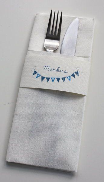 Serviettenring und Platzkarte ... mit dem Stempel, der schon auf Eurer Einladung ist?