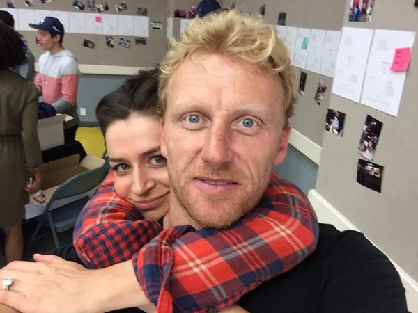 Kevin McKidd & Caterina Scorsone at the 250th lunch celebration 15 Sept 2015