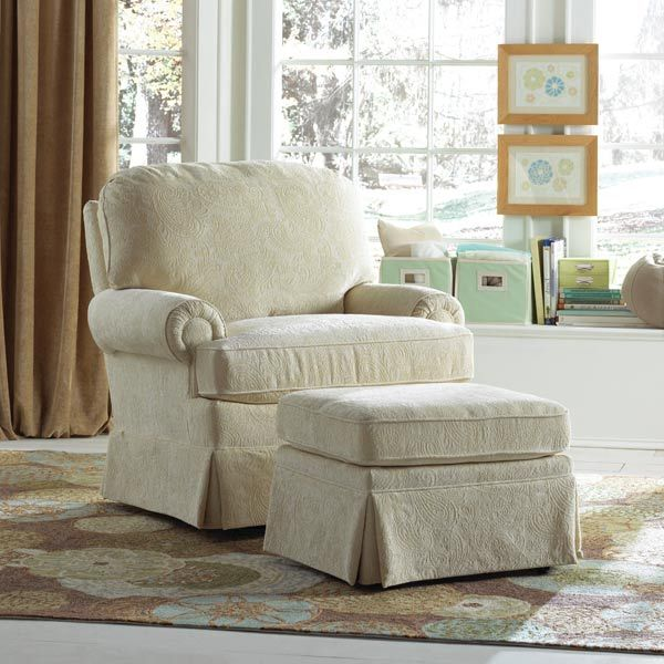 This Nursery Swivel Glider Has A Traditional Club Chair Look, But Moves  Effortlessly With The