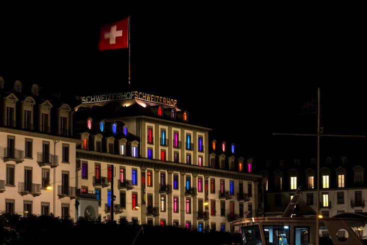 https://flic.kr/p/KnBcLP   Schweizerhof Luzern   Schweizerhof at Night