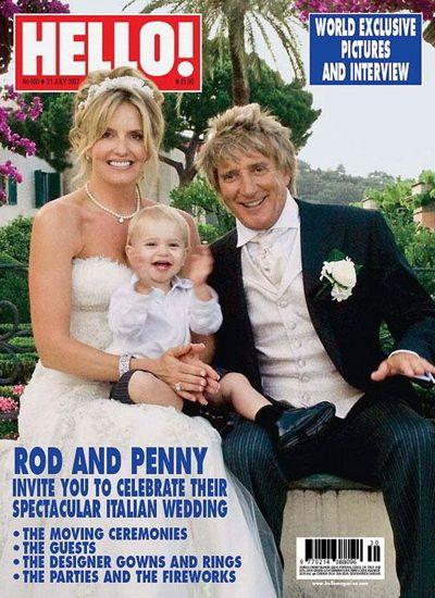 Rod Stewart marries model Penny Landcaster in 2007.