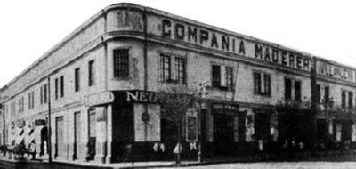 1930 Edificio campañia madedera villanueva. allí morirá el martir de la undecima compañia Antonio Secchi. 14 nov 1933