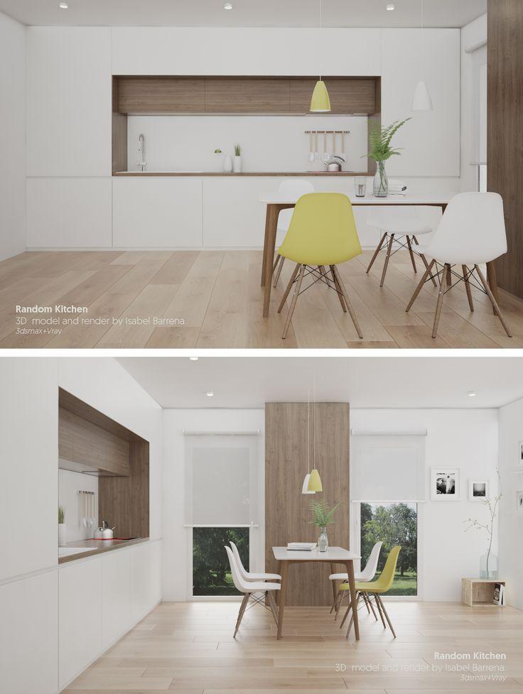 Kitchen. 3d model + render by Isabel Barrena.