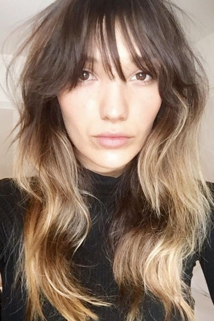 """The Top 5 Spring Hair Trends To Take L.A. #refinery29  http://www.refinery29.com/104299#slide-4  BangsStylist: Mateo LaraSalon: Hairroin SalonWhat To Ask For: A long, textured cut with side-swept bangs""""I would describe this look as a foxy, long, layered texture hai..."""