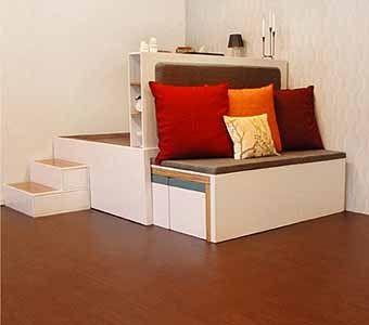 самодельная мебель-трансформер в сложенном виде