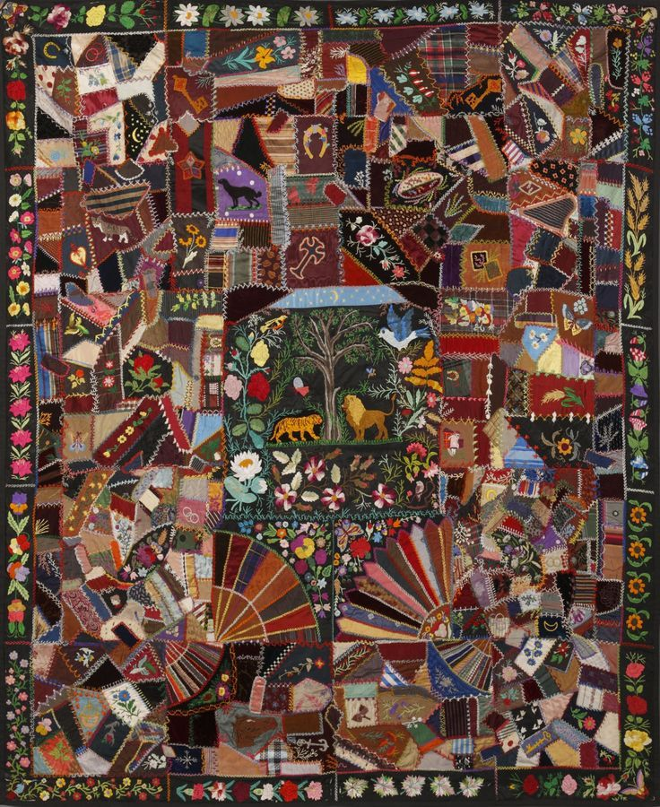 59 Best Images About Victorian Crazy Quilts On Pinterest