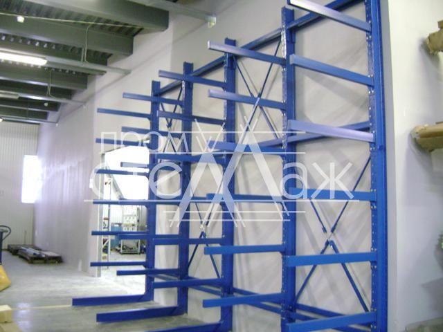 Консольные стеллажи - односторонние, двусторонние   Купить металлические стеллажи для хранения труб
