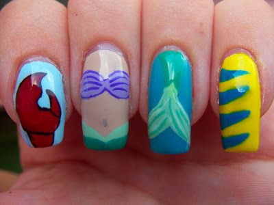 Meg's Manicures: Disney Series: The Little Mermaid::::: Shut the front doooooor, I need these nails NOW!!
