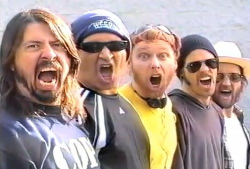 Foo Fighters! From the awesome rock, to their great shows, and hilarious music videos, these guys are 10 pounds of Non-Stop Win in a 5 pound bag!