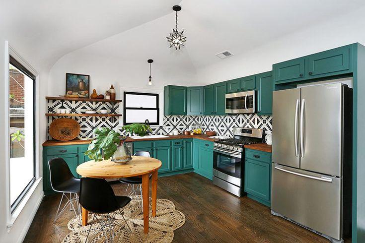 Teal Green Kitchen