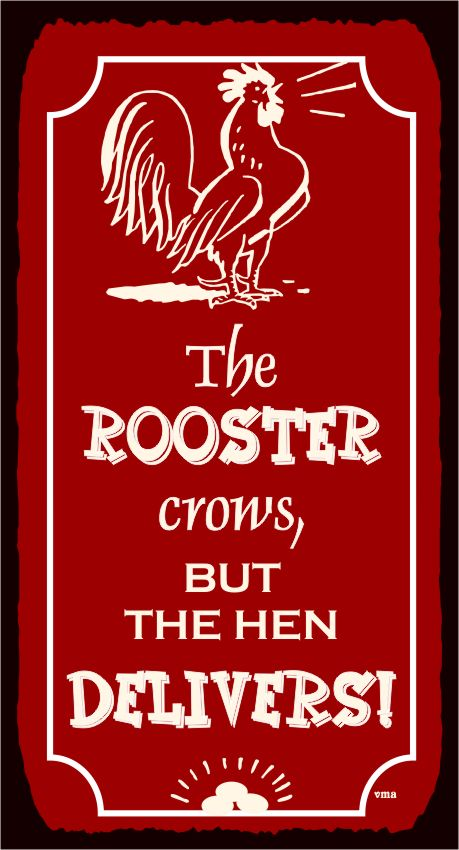 farm signs | The Rooster Crows Vintage Metal Art Country Farm Retro Tin Sign