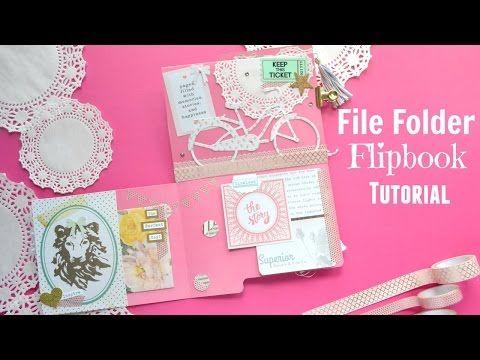 Snail Mail File Folder Flipbook Tutorial OR File Folder Mini Album Tutorial…
