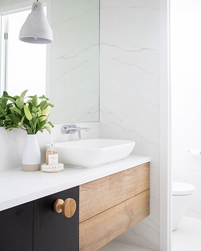 Still a little bit in love with this bathroom from Tailored Space Interiors in NSW. The AXA H10 Basin is always a winner especially when paired with Mizu Bliss mixers and plenty of natural light. So bright and fresh!