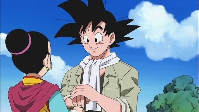 Goku wearing a scarf- and not his orange jump suit!!   Dbz ...