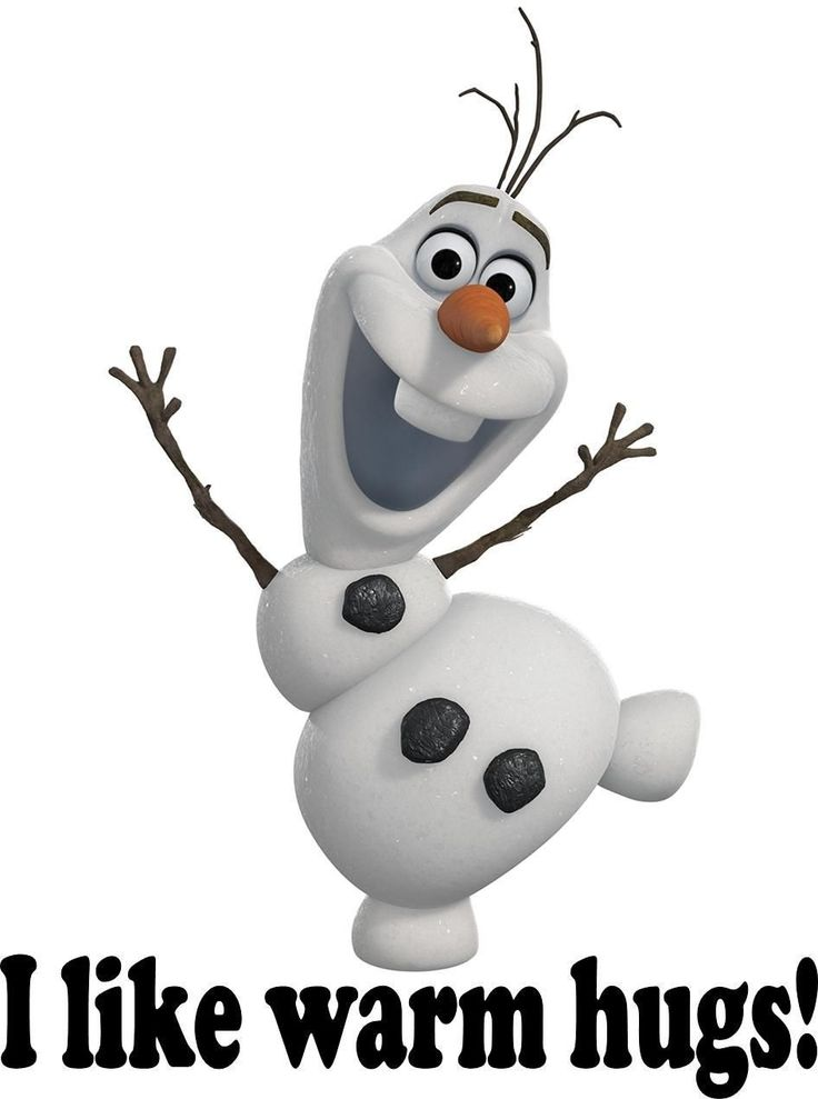 Disney Frozen Olaf I Like Warm Hugs Iron on Transfer