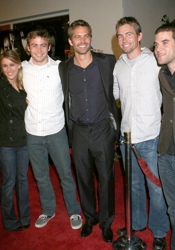 Paul Walker family from left to right... Cody, Caleb and Paul Walker... Cody and Caleb have stepped in to fill Paul's shoes, a big spot to fill and life altering