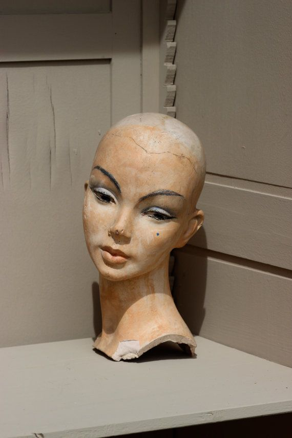 French Vintage Mannequin Head. Mannequin Head by LePasseRecompose