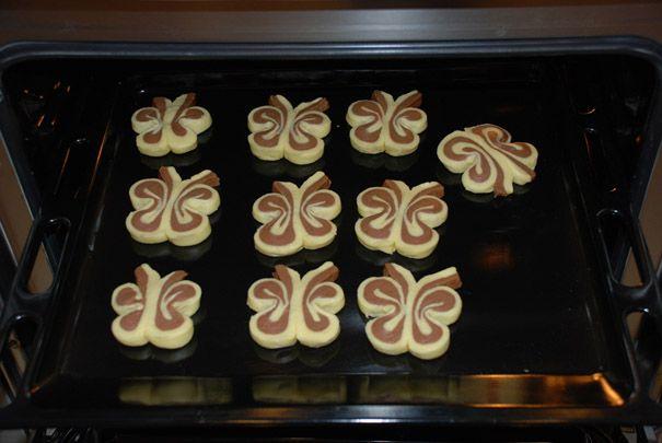 Sušenky ve tvaru motýlků