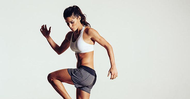 This HIIT workout is fun and intense, targeting your butt, legs, arms, and abs.