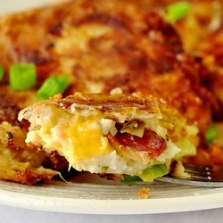Bacon Cheddar and Onion Potato Cakes - Rock Recipes -The Best Food & Photos from my St. John's, Newfoundland Kitchen.